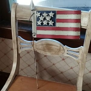 Other - Metal American flag garden stake